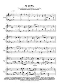 All Of Me - Harp Solo sheet music