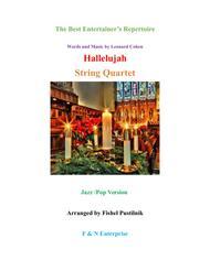 """Hallelujah"" for String Quartet sheet music"