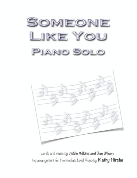 someone like you piano pdf