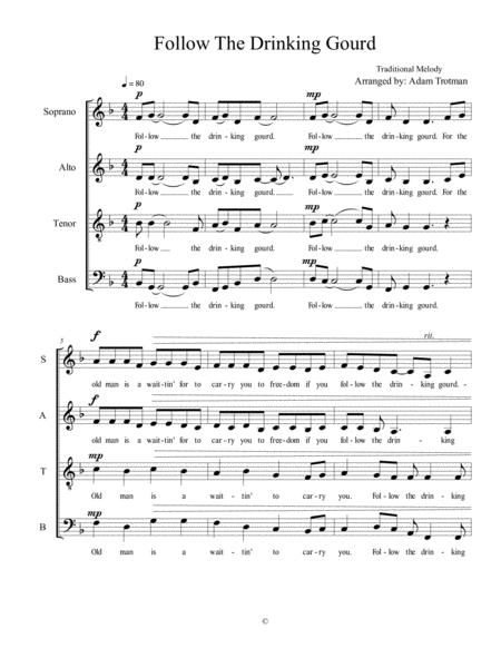 follow the drinking gourd sheet music pdf