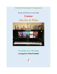 """Andrea Bocelli  Sheet Music """"Caruso"""" for Alto Sax and Piano Song Lyrics Guitar Tabs Piano Music Notes Songbook"""