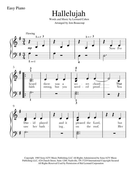 Download Digital Sheet Music for Easy Piano