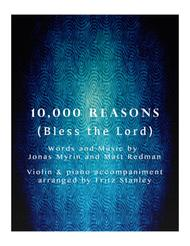 Matt Redman  Sheet Music 10,000 Reasons (Bless The Lord) - Violin & Piano Accompaniment Song Lyrics Guitar Tabs Piano Music Notes Songbook