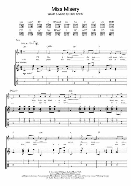 Elliott Smith Sheet Music To Download And Print World Center Of