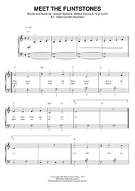 Joseph Barbera  Sheet Music (Meet The) Flintstones Song Lyrics Guitar Tabs Piano Music Notes Songbook