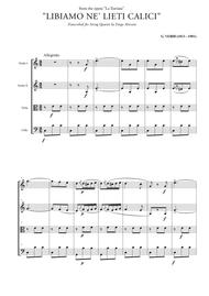 "Giuseppe Verdi  Sheet Music ""Libiamo ne' lieti calici"" (Brindisi) for String Quartet Song Lyrics Guitar Tabs Piano Music Notes Songbook"