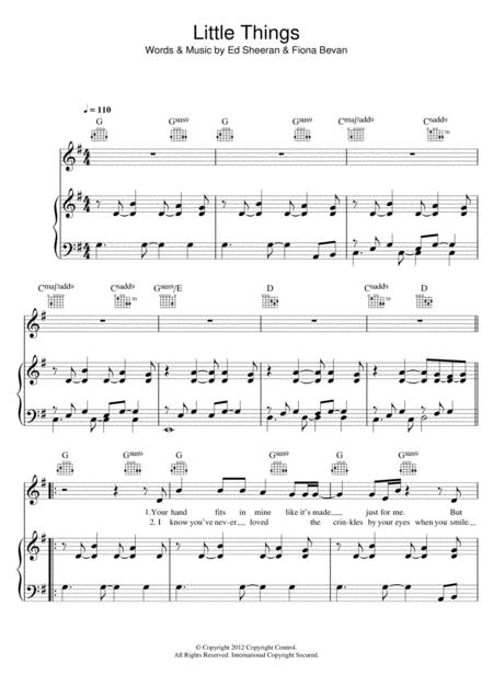 Download Digital Sheet Music Of One Direction For Piano Vocal And