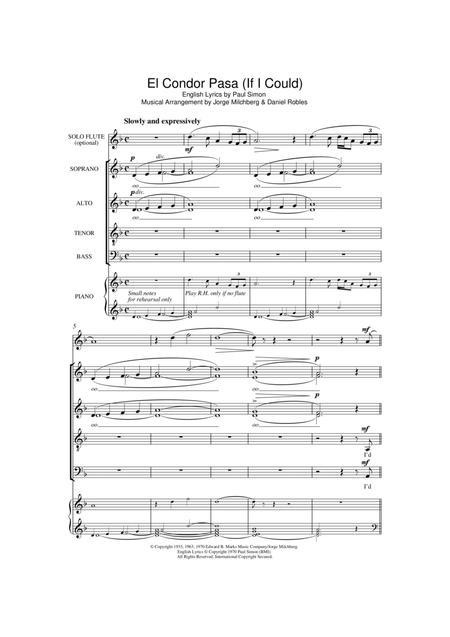El Condor Pasa Partitions Musicales Imprimer Mondial De La