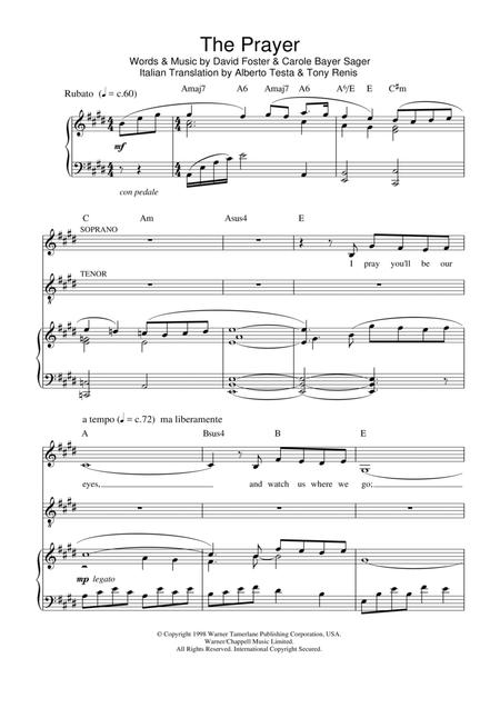 Download Digital Sheet Music of andrea bocelli for Piano, Vocal and ...