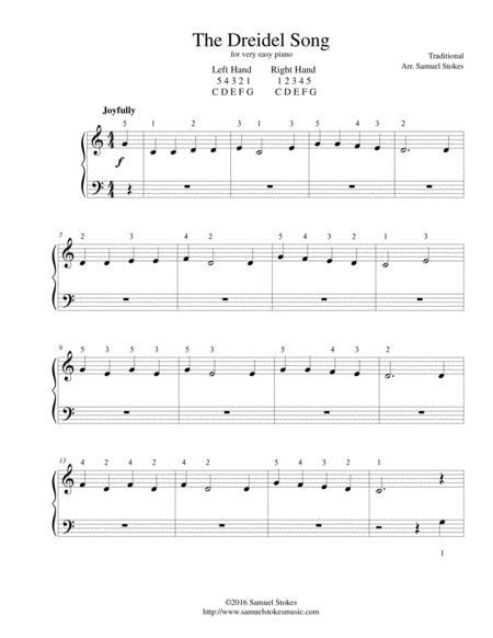 Download Digital Sheet Music of Hanukkah for Piano solo