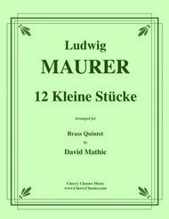 Ludwig Maurer  Sheet Music 12 Kleine StÃtcke for Brass Quintet Song Lyrics Guitar Tabs Piano Music Notes Songbook