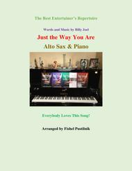 """""""Just The Way You Are"""" for Alto Sax and Piano sheet music"""