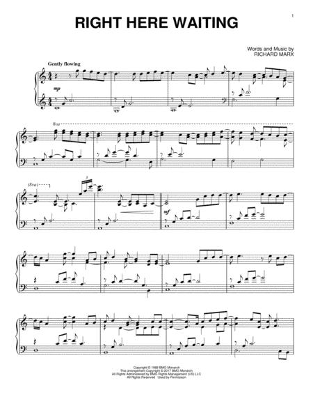 Richard Marx Sheet Music To Download And Print World Center Of