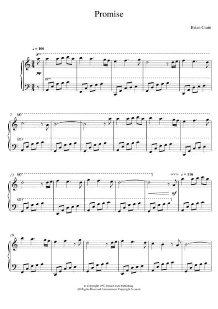 Download Digital Sheet Music of Brian Crain for Piano solo