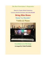 Bring Him Home for Violin and Piano sheet music