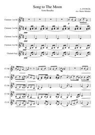 'Song to the Moon' from opera Rusalka. A. Dvorák. Clarinet Quintet Arragement sheet music