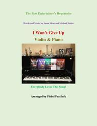 """I Won't Give Up"" for Violin & Piano sheet music"