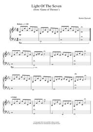 Light Of The Seven (from 'Game of Thrones') sheet music