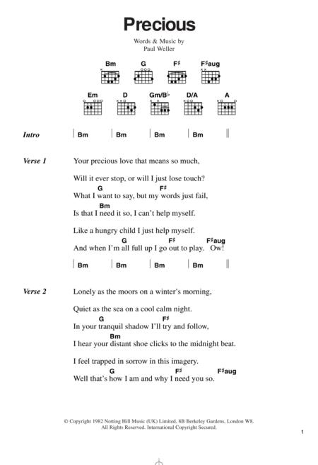Download Digital Sheet Music of The Jam for Lyrics and Chords