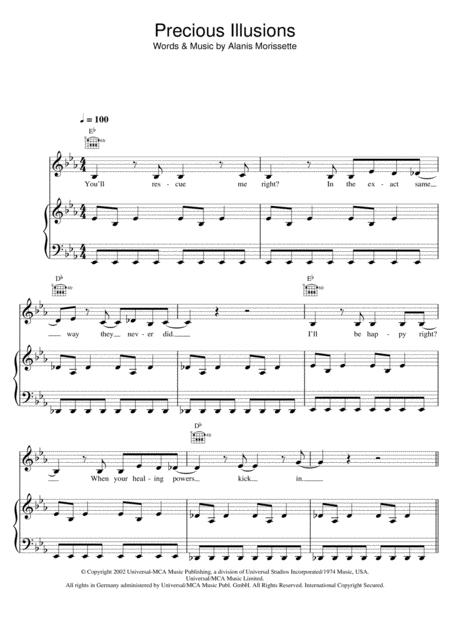 Alanis Morissette Sheet Music To Download And Print World Center