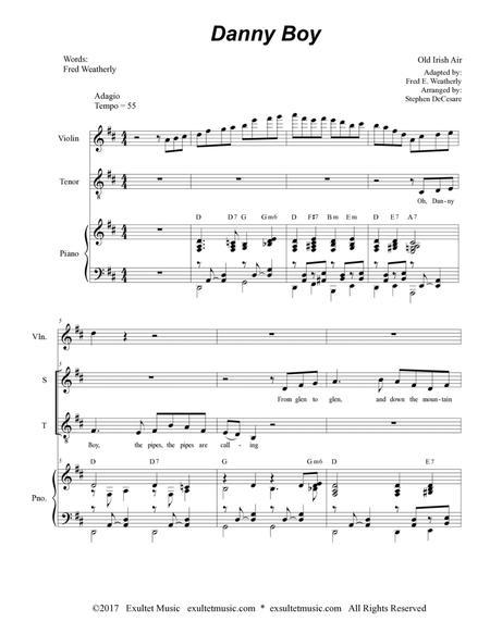 irish tune from county derry full score pdf