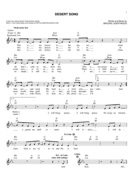 Brooke Ligertwood sheet music to download and print - World center ...