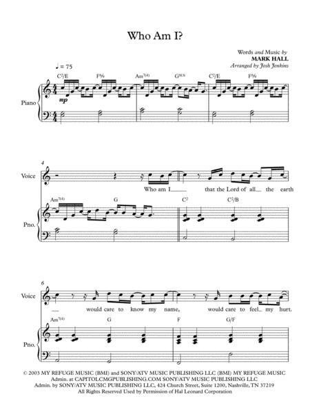 Casting Crowns sheet music to download and print - World center of