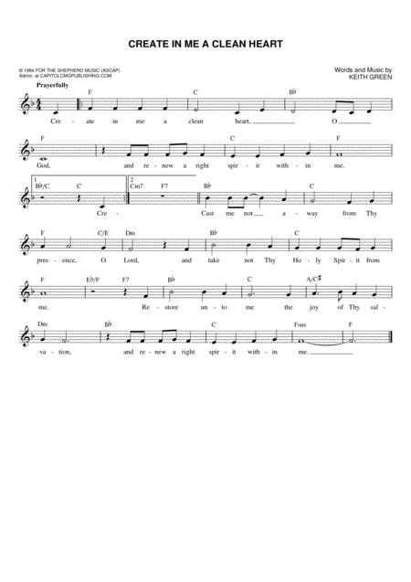Keith Green sheet music to download and print - World center of