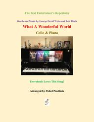 """""""What A Wonderful World"""" for Cello and Piano sheet music"""