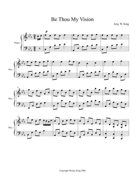 Download Digital Sheet Music Of Be Thou My Vision Piano Solo For
