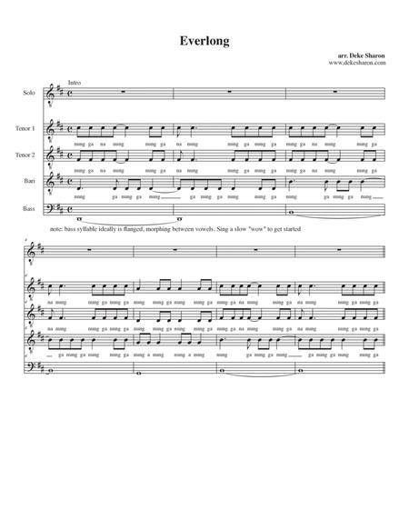 Foo fighters learn to fly piano sheet music