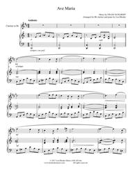 """Franz Schubert (1797-1828)  Sheet Music """"Ave Maria"""" - Franz Schubert; for Bb clarinet and piano Song Lyrics Guitar Tabs Piano Music Notes Songbook"""