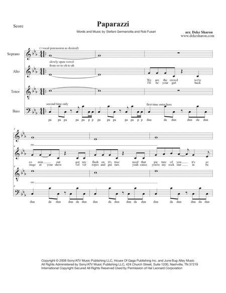 Download Digital Sheet Music Of Lady Gaga For