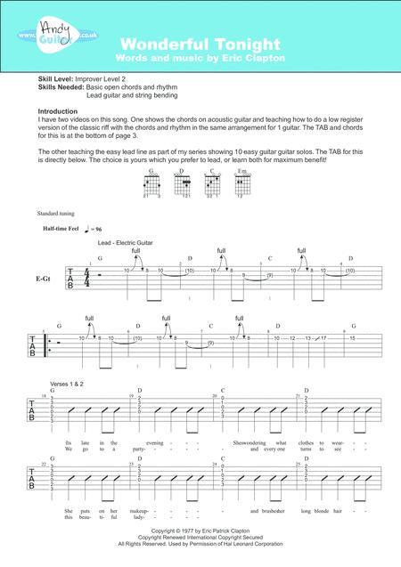 Fancy Guitar Chords To Wonderful Tonight Ideas - Basic Guitar Chords ...