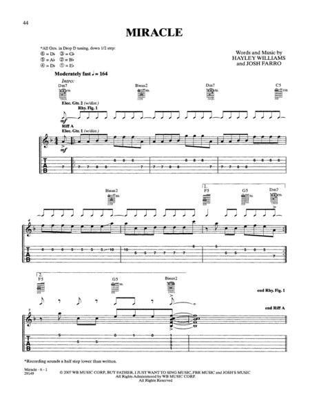 Paramore sheet music to download and print - World center of