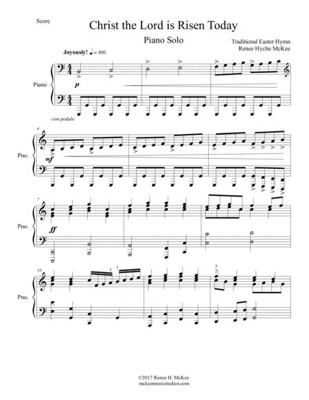 Download Digital Sheet Music of Traditional Gospel Hymn for