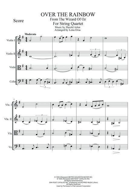 Download Digital Sheet Music of Judy Garland for String Quartet: 2