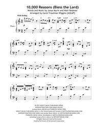 Matt Redman  Sheet Music 10,000 Reasons (Bless The Lord) Piano Solo Song Lyrics Guitar Tabs Piano Music Notes Songbook