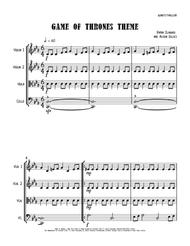 Game Of Thrones - String Trio (vln/vla/vc) sheet music