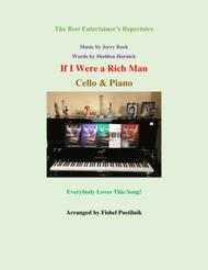 """Bock & Harnick  Sheet Music """"If I Were A Rich Man"""" for Cello and Piano Song Lyrics Guitar Tabs Piano Music Notes Songbook"""
