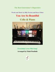 """""""You Are So Beautiful"""" for Cello and Piano sheet music"""