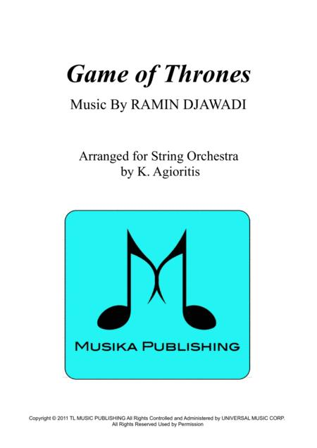 game of thrones theme sheet music pdf cello
