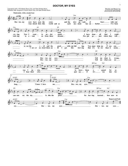Jackson Browne Sheet Music Books Scores Buy Online