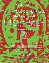 """Albert Hague  Sheet Music """"You're A Mean One, Mr. Grinch"""" (for String Quartet) Song Lyrics Guitar Tabs Piano Music Notes Songbook"""