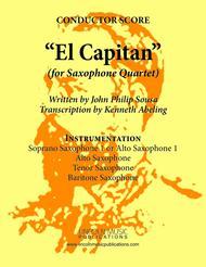 March - El Capitan (for Saxophone Quartet SATB or AATB)