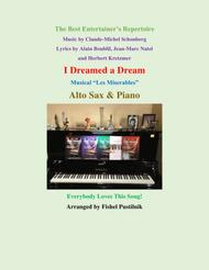 """I Dreamed A Dream"" for Alto Sax and Piano sheet music"