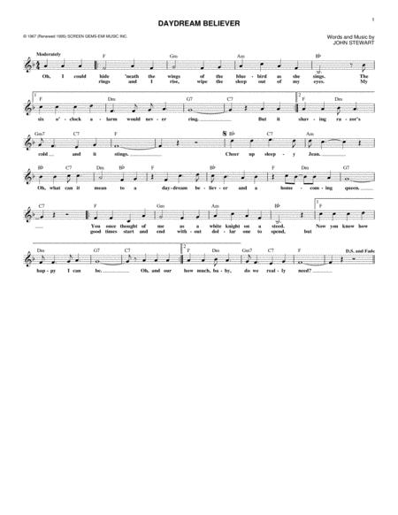 Download Digital Sheet Music of DAYDREAM for