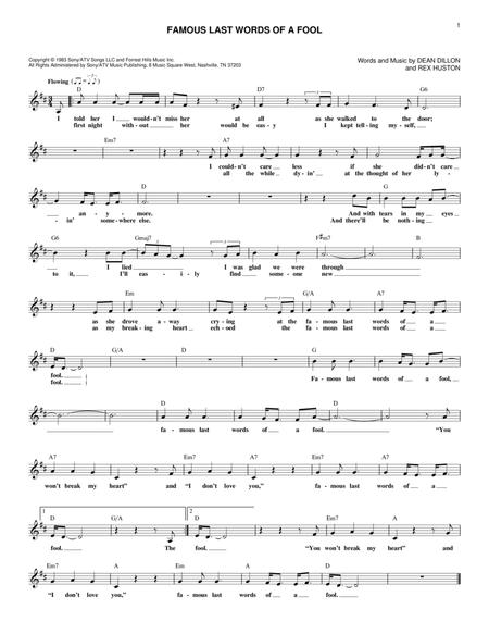 George Strait Sheet Music To Download And Print World Center Of