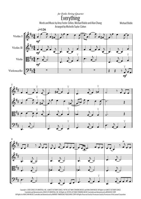 Download Digital Sheet Music of michael buble for String