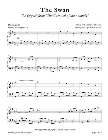 Download Digital Sheet Music of Camille Saint-Saens for